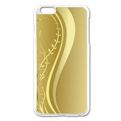Golden Wave Floral Leaf Circle Apple Iphone 6 Plus/6s Plus Enamel White Case by Alisyart
