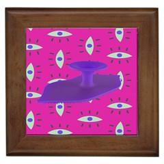 Eye Purple Pink Framed Tiles by Alisyart