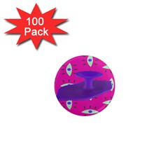 Eye Purple Pink 1  Mini Magnets (100 Pack)  by Alisyart