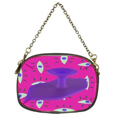 Eye Purple Pink Chain Purses (two Sides)  by Alisyart
