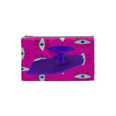 Eye Purple Pink Cosmetic Bag (small)  by Alisyart