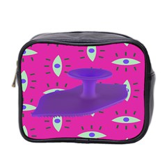 Eye Purple Pink Mini Toiletries Bag 2 Side by Alisyart