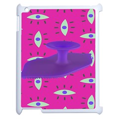 Eye Purple Pink Apple Ipad 2 Case (white) by Alisyart
