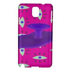 Eye Purple Pink Samsung Galaxy Note 3 N9005 Hardshell Case by Alisyart