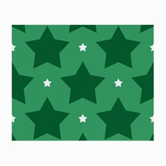 Green White Star Small Glasses Cloth by Alisyart