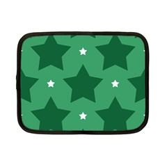 Green White Star Netbook Case (small)  by Alisyart