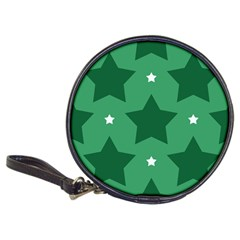 Green White Star Classic 20 Cd Wallets by Alisyart