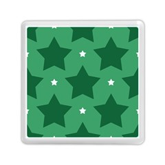 Green White Star Memory Card Reader (square)  by Alisyart