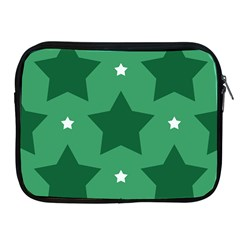Green White Star Apple Ipad 2/3/4 Zipper Cases by Alisyart