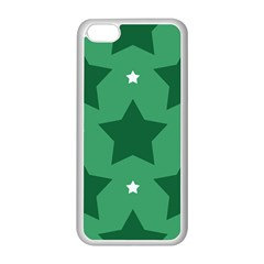 Green White Star Apple Iphone 5c Seamless Case (white) by Alisyart