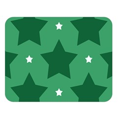 Green White Star Double Sided Flano Blanket (large)  by Alisyart