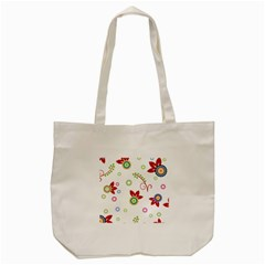 Floral Flower Rose Star Tote Bag (cream) by Alisyart