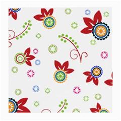 Floral Flower Rose Star Medium Glasses Cloth by Alisyart