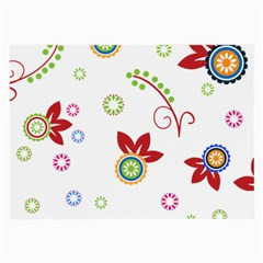 Floral Flower Rose Star Large Glasses Cloth by Alisyart
