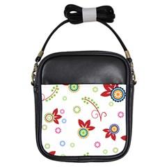 Floral Flower Rose Star Girls Sling Bags by Alisyart