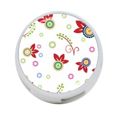Floral Flower Rose Star 4 Port Usb Hub (one Side) by Alisyart