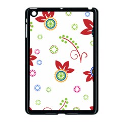 Floral Flower Rose Star Apple Ipad Mini Case (black) by Alisyart