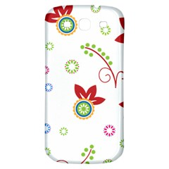 Floral Flower Rose Star Samsung Galaxy S3 S Iii Classic Hardshell Back Case by Alisyart
