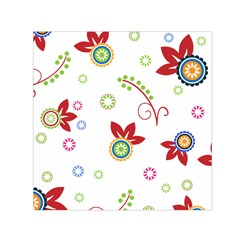 Floral Flower Rose Star Small Satin Scarf (square) by Alisyart