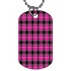 Cell Background Pink Surface Dog Tag (one Side) by Simbadda