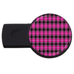 Cell Background Pink Surface Usb Flash Drive Round (4 Gb) by Simbadda