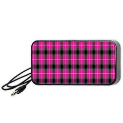 Cell Background Pink Surface Portable Speaker (black) by Simbadda