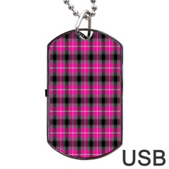 Cell Background Pink Surface Dog Tag Usb Flash (two Sides) by Simbadda
