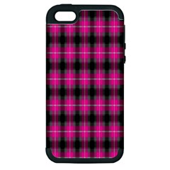 Cell Background Pink Surface Apple Iphone 5 Hardshell Case (pc+silicone) by Simbadda