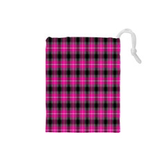 Cell Background Pink Surface Drawstring Pouches (small)  by Simbadda