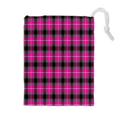 Cell Background Pink Surface Drawstring Pouches (extra Large) by Simbadda