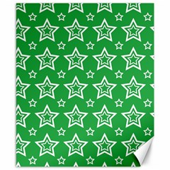 Green White Star Line Space Canvas 8  X 10  by Alisyart