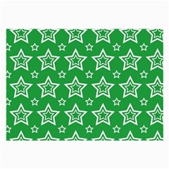 Green White Star Line Space Large Glasses Cloth (2 Side) by Alisyart