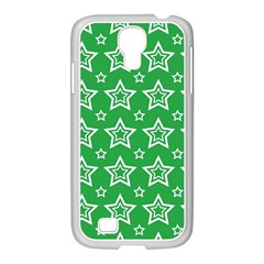 Green White Star Line Space Samsung Galaxy S4 I9500/ I9505 Case (white) by Alisyart