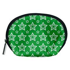 Green White Star Line Space Accessory Pouches (medium)  by Alisyart