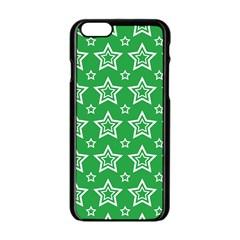 Green White Star Line Space Apple Iphone 6/6s Black Enamel Case by Alisyart