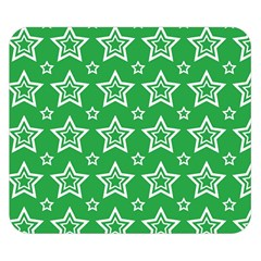 Green White Star Line Space Double Sided Flano Blanket (small)  by Alisyart