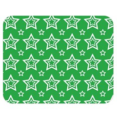 Green White Star Line Space Double Sided Flano Blanket (medium)  by Alisyart