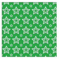 Green White Star Line Space Large Satin Scarf (square) by Alisyart