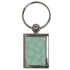 Floral Flower Rose Sunflower Grey Key Chains (rectangle)  by Alisyart