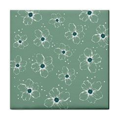 Floral Flower Rose Sunflower Grey Face Towel by Alisyart