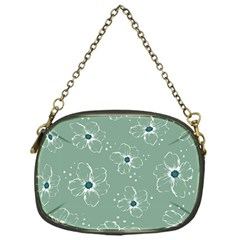 Floral Flower Rose Sunflower Grey Chain Purses (one Side)  by Alisyart