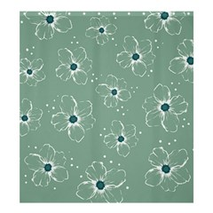 Floral Flower Rose Sunflower Grey Shower Curtain 66  X 72  (large)  by Alisyart