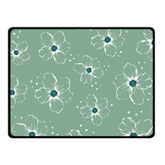 Floral Flower Rose Sunflower Grey Fleece Blanket (small) by Alisyart
