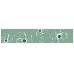 Floral Flower Rose Sunflower Grey Flano Scarf (large) by Alisyart