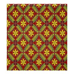 Abstract Yellow Red Frame Flower Floral Shower Curtain 66  X 72  (large)  by Alisyart