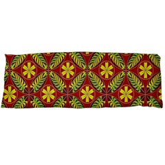 Abstract Yellow Red Frame Flower Floral Body Pillow Case Dakimakura (two Sides) by Alisyart