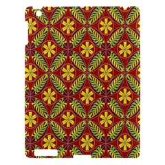 Abstract Yellow Red Frame Flower Floral Apple Ipad 3/4 Hardshell Case by Alisyart