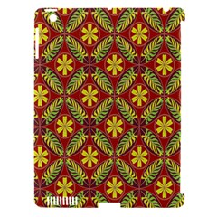 Abstract Yellow Red Frame Flower Floral Apple Ipad 3/4 Hardshell Case (compatible With Smart Cover) by Alisyart