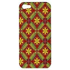 Abstract Yellow Red Frame Flower Floral Apple Iphone 5 Hardshell Case by Alisyart