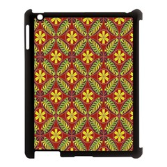 Abstract Yellow Red Frame Flower Floral Apple Ipad 3/4 Case (black) by Alisyart